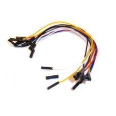 10 Jumper Wires Female-Female 20cm
